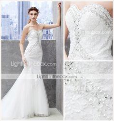 Lanting Trumpet/Mermaid Wedding Dress - Ivory Chapel Train Sweetheart Lace/Tulle 2595922 2016 – $189.99