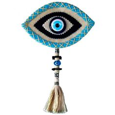 This post was discovered by Mü Felt Diy, Felt Crafts, Diy And Crafts, Evil Eye Art, Felt Wall Hanging, Evil Eye Jewelry, Penny Rugs, Felt Fabric, Felt Flowers
