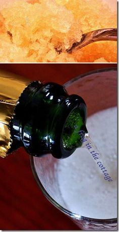 champagne & apple granita
