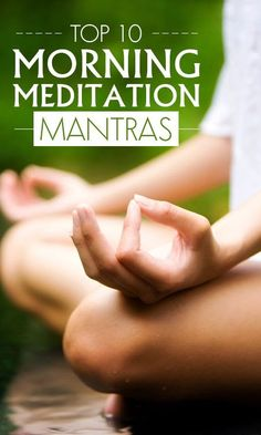 Top 10 Morning Meditation Mantras- Morning is the best time for meditation. Aided by mantras it is even better an experience. Here are some of the best mantra for meditation that you can try. Yoga Meditation, Atem Meditation, Morning Meditation, Healing Meditation, Meditation Sounds, Meditation Quotes, Meditation Space, Simple Meditation, Meditation For Anxiety