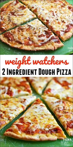 This 2 ingredient dough pizza is perfect for the weight watchers freestyle plan…. This 2 ingredient dough pizza is perfect for the weight watchers freestyle plan. The entire pizza is low in points and delicious. Healthy Pizza Recipes, Healthy Meals For Two, Ww Recipes, Easy Meals, Healthy Eating, Cooking Recipes, Clean Eating Pizza, Flour Recipes, Healthy Foods