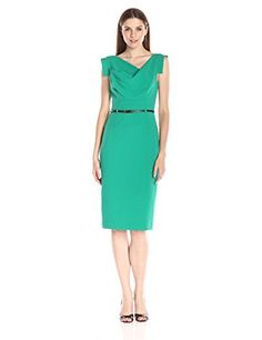 """Black Halo """"Jackie O Dress"""" in Agave Green - http://www.womansindex.com/black-halo-jackie-o-dress-in-agave-green/"""