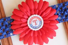 Texas Rangers bow! My baby needs this.