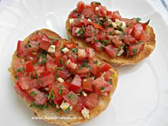 Vegan Recipes, Cooking Recipes, Party Finger Foods, Cafe Food, Food Design, Bruschetta, Quick Easy Meals, Food Dishes, Appetizer Recipes