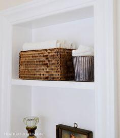 Heather Bullard S Clever Guest Bath Reno From Medicine Cabinet To Built In Shelf