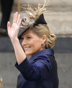 Sophie, Countess of Wessex also opted for vintage-inspired headgear