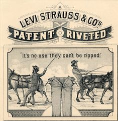 Shop the full range of Levi's at The Idle Man・Men's Denim Jeans, Shirts & Shorts・Order now・FREE delivery & returns! Vintage Labels, Vintage Posters, Vintage Logos, Vintage Jeans, Vintage Outfits, Films Western, Old Advertisements, Levi Strauss & Co, Old Ads