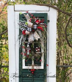 Christmas Swag Door Swag Christmas Wreath by FeatheredNestWreaths