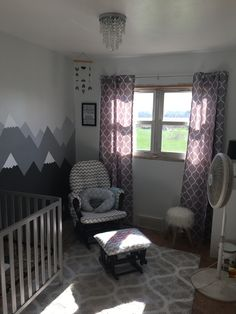 Daytime in our baby nursery.