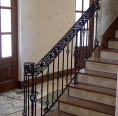 Island Custom Stairs manufactures custom wood railings custom