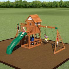The Cedar Peak Is A Great Swing Set That Is All Cedar, With A Monkey