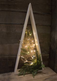 Illuminated wooden tree, natural effect, 34 '' - # illuminated . Illuminated wooden tree, natural effect, 34 '' - # illuminated . Wooden Christmas Trees, Noel Christmas, Homemade Christmas, Rustic Christmas, Xmas Tree, Winter Christmas, Christmas Wreaths, Christmas Ornaments, Wooden Tree