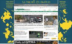 Creatividad para la página web de La Opinión de Málaga.