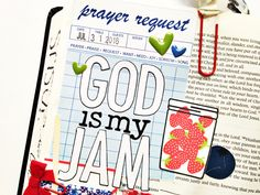 hybrid Bible journaling process video by Andrea Gray
