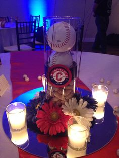 Carleton Wedding Baseball centerpiece! :)