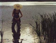 Waiting in Waders. Polina for 10 Magazine originally sourced from Fashion Gone Rogue