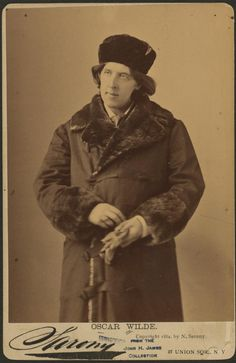 Oscar Wilde, from a series of photographic prints and negatives. NYPL, Billy Rose Theatre Division. Digital Gallery