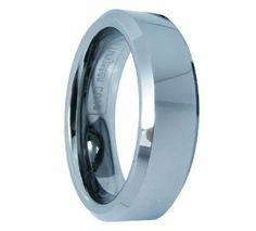 8mm Comfort Fit Polished Shiny Beveled-edge Tungsten Men's Aniversary/engagement/wedding Bands Engagement Rings (Size 8-12 Available) Size 10 TungstenLove. $16.99