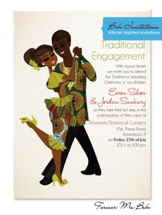 Traditional african wedding invitations