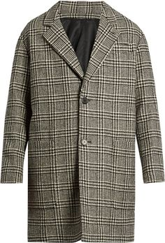 AMI Oversized wool-blend hound's-tooth overcoat