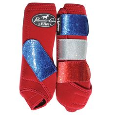 Professional's Choice SMB Elite Sports Medicine Boot, Western Tack, Horse protection, aqha, Crimson - Red White Blue