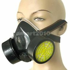 Black Gas Mask Emergency Survival Safety Respiratory Gas Mask Anti Dust Paint Respirator Mask With 2 Dual Protective Filter Promote The Production Of Body Fluid And Saliva Personal Health Care Masks