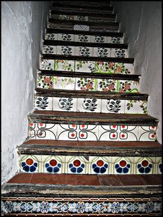 Sitges, Barcelona. Tiled staircases is a whole 'nother category-! <3