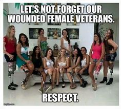 """medusa-seduce-ya: """"southernraisedmarinecorpsmade: """"Just gonna say this is actually the first picture I've actually seen of wounded female veterans. Now that I think about it they are (in my eyes at least) hugely forgotten. Some female service members. Gi Joe, Xavier Naidoo, Marine Corps, Marine Mom, Little Bit, Support Our Troops, Military Life, Military Women, Women Marines"""
