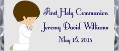 First Communion Boy Praying Candy Bar Wrappers