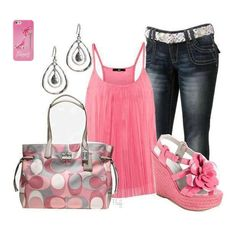 #style #clothes #fashion cute outfit to hang out with my girls