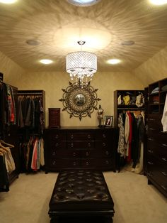 12 x 14 Walk-In Closet Created In Attic Space Next To Master Bedroom.
