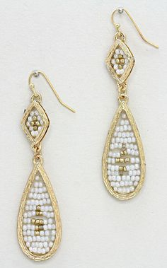 Kyla Earrings in White