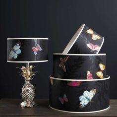 Farfalla Drum Lamp Shade - View All Lighting - Lighting - Lighting & Mirrors Lamp Shades, Light Shades, Bedside Lighting, Grey Room, Mirror With Lights, My New Room, Interior Lighting, Lamp Light, Interior Inspiration