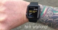 Dövmeli kollar Apple Watch'ı durdurdu.