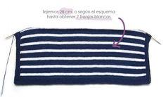 Chaqueta de punto marinera DIY - Tutorial y patrón Knit Vest, Pullover, Knitting, Diy, Women, Wicca, Lana, Patterns, Knitting Machine
