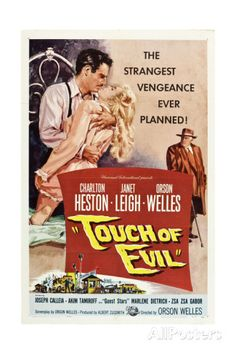 TOUCH OF EVIL, Charlton Heston, Janet Leigh, Orson Welles, 1958 Reproduction d'art