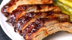 Costillas cocidas al horno con salsa barbacoa