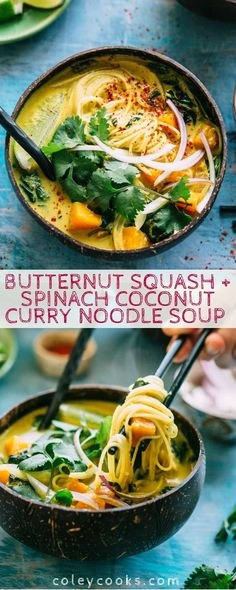 Spinach Recipes, Soup Recipes, Vegetarian Recipes, Healthy Recipes, Noodle Recipes, Healthy Soups, Vegetarian Noodle Soup, Vegan Noodles Recipes, Cream Recipes
