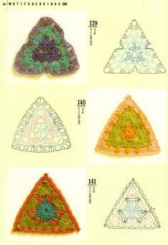 Triangulos em Croche