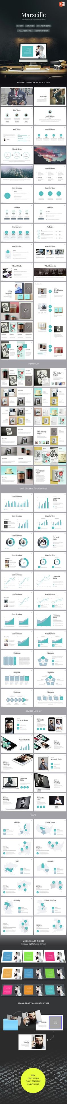 Marseille - Elegant Powerpoint Template (PowerPoint Templates)