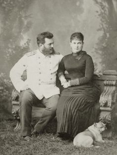 Grand Duke Vladimir Alexandrovich of Russia and spouse, Grand Duchess Maria Pavlovna (the Elder). 1880s,