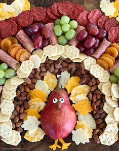 Create a snack board for easy entertaining for Thanksgiving that your family and friends will want to gobble! This turkey snack board is an easy way to entertain family or friends ove… Thanksgiving Snacks, Thanksgiving Parties, Thanksgiving Decorations, Thanksgiving Turkey, Thanksgiving Table Settings, Thanksgiving Dinner For Two, Fall Snacks, Thanksgiving Quotes, Thanksgiving Crafts For Kids
