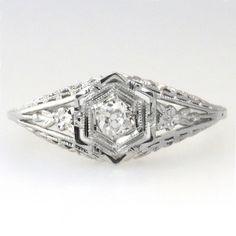12 ring three crystal black enamel design edwardian style victorian antique sparkling bridal vtg vintage j.esposito engagement ring sz