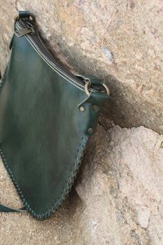 Neyzen Green Leather Handbag/Purse/Crossbody bag - Handmade in Turkey Genuine high quality handmade Turkish leather purses/totes from the Aegean region of Bodrum, Turkey. Our leather creations are handmade with the finest leather and materials. Color: Green with leather lace