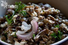 Kuchařka ze Svatojánu: ČOČKOVÝ SALÁT S BALKÁNSKÝM SÝREM Pasta Salad, Paleo, Cooking Recipes, Sweets, Baking, Vegetables, Ethnic Recipes, Food, Crab Pasta Salad
