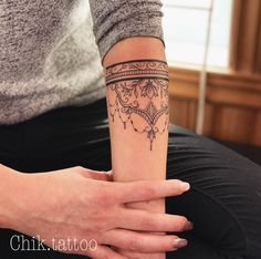 mandala tattoo arm lace delicat