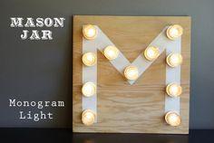 DIY monogram light