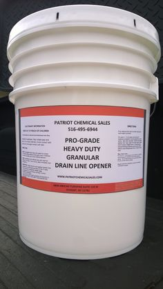PRO-GRADE HEAVY DUTY GRANULAR DRAIN LINE OPENER ~ 50 & 25 lbs ~ Unclogs Pipelines ~ Biodegradable ~ EPA Approved ~ Safe for Pipes ~ Coats Walls 90-120 Days ~ Emulsifies fat, grease, oil, hair, organic matter, cigarettes, paper, baby wipes, rags, hard water deposits, soap scum, etc. Visit patriotchemicalcompany.com. Call 888-896-4827.