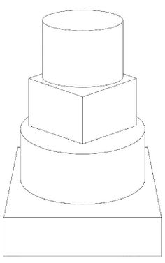 5 tier round cake template FREE downloadable cake