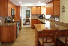 Galley Kitchen Makeovers | Contemporary Galley Kitchen | Stone Creek Furniture